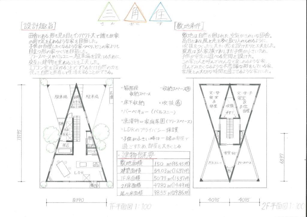 三角住(さんかくす)1
