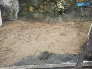 馬場邸解体完了、地縄完了_201109_4