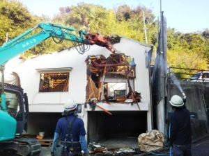 馬場邸重機搬入作業開始_201102_1