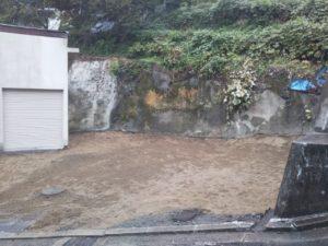 馬場邸解体完了、地縄完了_201109_1